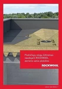 Rockwool Plokščiųjų stogų šiltinimas. Brošiūra